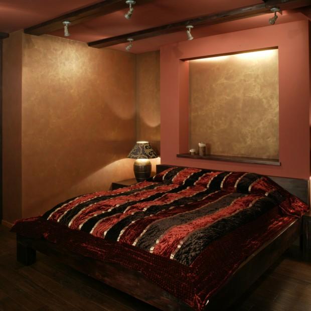 Sypialnia jak z rycerskiego zamku