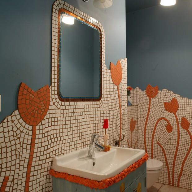 Pomysłowe ściany w łazience: postaw na oryginalny efekt