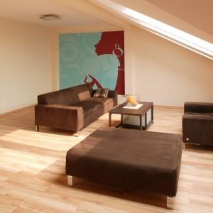 Wnętrze wypełnia niewielka ilość mebli, a pojawienie się każdego z nich ma praktyczne uzasadnienie. Ich oszczędne, bliskie minimalizmowi formy zostały złagodzone przez przyjazne materiały takie, jak drewno czy zamsz.Fot. Tomasz Markowski