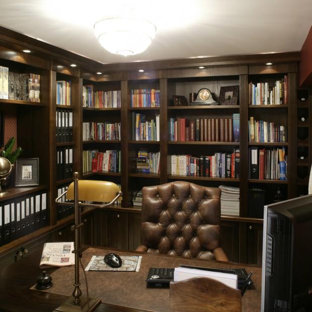 Domowy gabinet w klasycznym stylu
