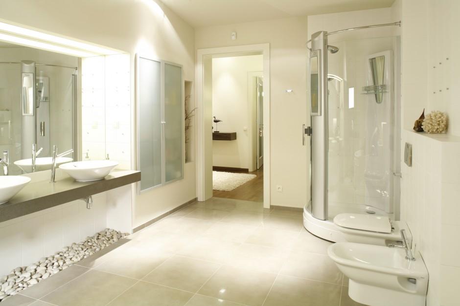 Jeden z kątów łazienki