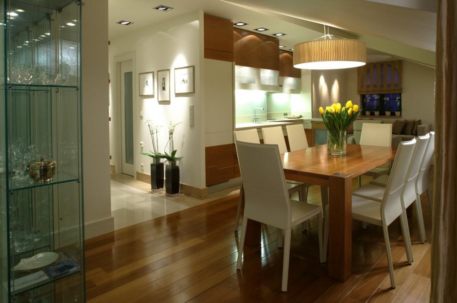 Jadalnia, kuchnia i salon Wpisane w okrąg -> Otwarta Kuchnia Jadalnia Salon
