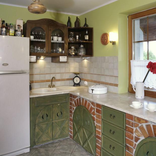Przytulna kuchnia w rustykalnym stylu