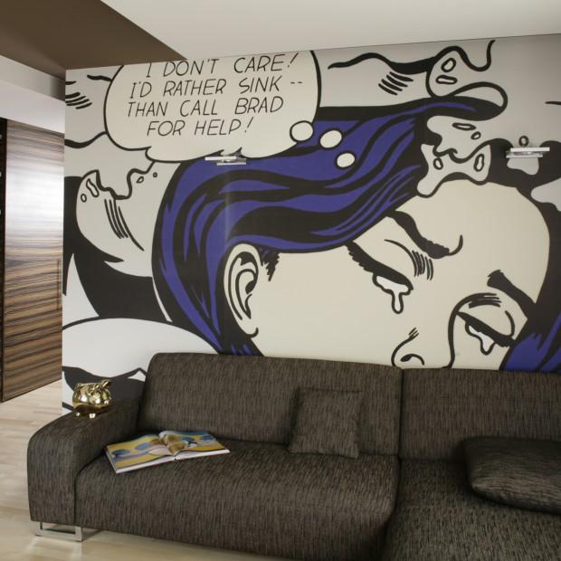 Komiks na ścianie: pomysł na aranżację dla odważnych