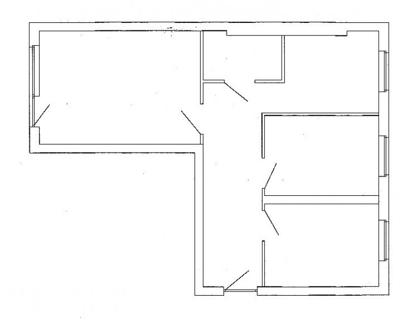 Rzut opisywanego mieszkania