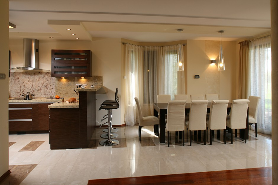 Otwarta kuchnia tworzy wraz Otwarta kuchnia, duża jadalnia dom dobrze z   -> Otwarta Kuchnia Z Jadalnią I Salonem