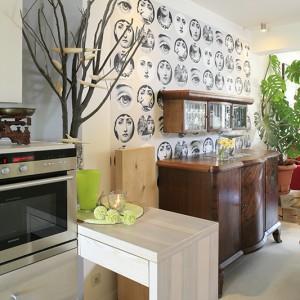 Sztuka jest ważnym elementem domu. Wkracza nawet do kuchni pod postacią rzeźb ptaków autorstwa Andrzeja Haręzy. Fot. Bartosz Jarosz.