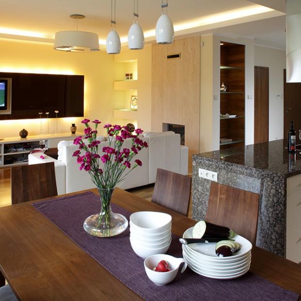 Kuchnia jako część salonu: możliwe dzięki wyspie