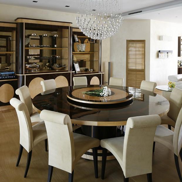 Eleganckie wnętrze w stylu glamour
