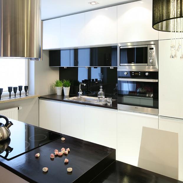 Kuchnia na jednej ścianie: do małych i dużych mieszkań