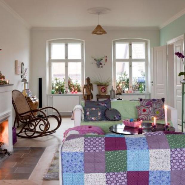 Patchwork we wnętrzu: kolorowy wystrój wnętrza stylowego domu
