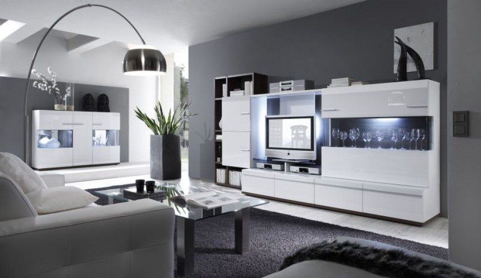 pomys na salon w bieli. Black Bedroom Furniture Sets. Home Design Ideas