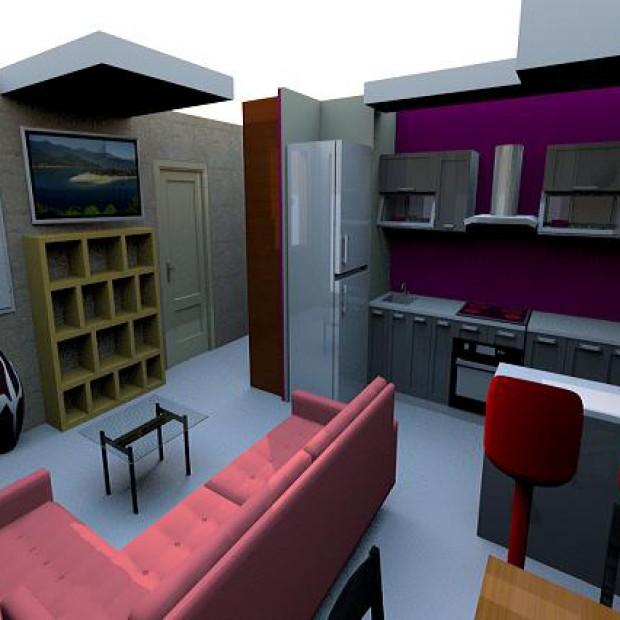 Pomysły architekta na salon z aneksem