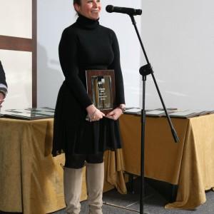 Firma Iste otrzymała nagrodę za mebel z Programu 0302. Na zdjęciu Paulina Kluczyńska, kierownik ds. sprzedaży i marketingu Iste.