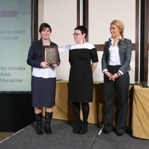 Kolejny tytuł dla Grupy IMS przypadł marce Helvetia Wieruszów za kolekcję mebli Dolomiti.