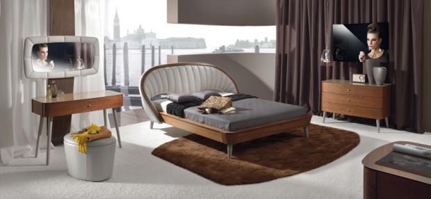 Sypialnie, łóżka, meble drewniane, toaletki
