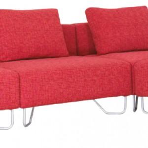 Sofa modułowa Lotus (proj. Elisabeth Ellefsen). Element pojedynczy rogowy 98x98x80 cm. Cena: od 1.600,83 zł, Softline, Akademia Architektury.