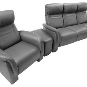 Home Cinema to zestaw zaprojektowany z myślą o komforcie. Siedziska z funkcją relaksu i regulowanymi zagłówkami umożliwiają ustawienie ich w dowolnej pozycji, zapewniając siedzącemu maksymalną wygodę. Wycena indywidualna, Etap Sofa.