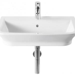 Umywalka nablatowa/ścienna. Materiał: ceramika sanitarna Wym. 55x47 cm. Cena: ok. 213 zł, Roca/Gap.
