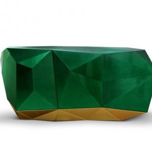 Komoda Diamond Emerald. Fot. Boca do Lobo, www.bocadolobo.com