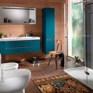 Kolekcja mebli łazienkowych Subway 2.0 została zaprojektowana z myślą również o niewielkich przestrzeniach. Cena: od ok. 1.830 zł, Villeroy&Boch.