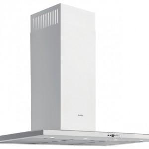 Zen White - kominowy 90 cm, biały, typ T-line, praca w trybie wyciąg/pochłaniacz, wyświetlacz elektroniczny, sterowanie przyciskami Soft-Touch, funkcja czasowego wyłączenia. Cena: ok. 2.000 zł, Amica.