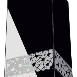 KR Glass Design W - wyspowy, surowa forma w eleganckim opakowaniu, czarne szkło ozdobione estetyczną aplikacją, wysoka jakość materiałów oraz najlepsze rozwiązania techniczne w postaci m.in. sensorowego sterowania Sensor Touch. Cena: ok. 5.990 zł, Ciarko.