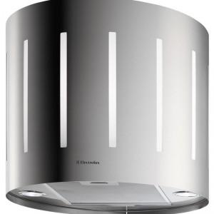 EFA50700X - wyspowy 50 cm, linia Inspiration, sterowanie elektroniczne za pomocą przycisków, praca w trybie recyrkulacyjnym, 3 stopnie regulacji mocy, oświetlenie halogenowe. Cena: ok. 5.399 zł, Electrolux.