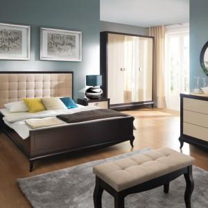 Imponujące łóżko z klasycznej kolekcji Laviano  - harmonijna forma to zasługa odpowiednich proporcji i podwyższonego zagłówka. Wycena indywidualna, Bydgoskie Meble.
