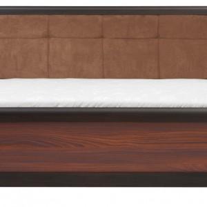 Łóżko Loren z tapicerowanym wezgłowiem. Kolorystyka: wenge/akacja mali brąz. Cena: ok. 799 zł, Black Red White