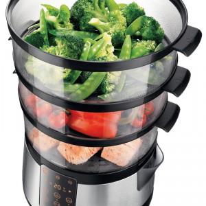 Parowar Avance Collection HD9190 z dodatkowym pojemnikiem na przyprawy to jeszcze pełniejszy aromat potraw oraz gotowanie w optymalnym czasie   i temperaturze. Cena: ok. 709 zł, Philips.