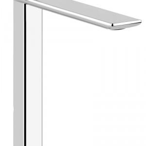 iSpa – umywalkowa; z serii inspirowanej kształtem Iphone\'a, prosta forma o gładko zaokrąglonych   krawędziach z oryginalną dźwignią. Cena: od ok. 2.300 zł, Gessi.