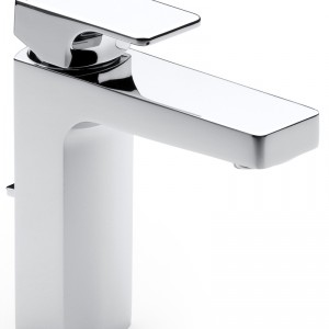 L90 – prosty kształt nawiązujący do odwróconej litery L; minimalistyczna forma i innowacyjne rozwiązania ekologiczne; system Click pozwala zmniejszyć siłę strumienia i sygnalizuje większe zużycie, ekodysk – reguluje temperaturę wody. Cena: od ok. 1.402 zł, Roca.