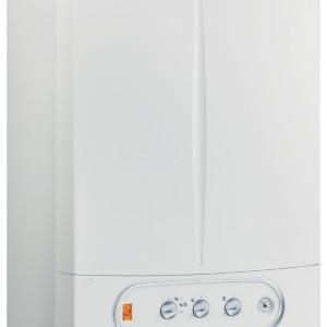 Victrix Zeus 26 1 I - kondensacyjny, dwufunkcyjny z wbudowanym zasobnikiem c.w.u. ze stali nierdzewnej o poj. 45 l. Zamknięta komora spalania. Panel kontrolny z wyświetlaczem i poręcznymi pokrętłami. Optymalna regulacja temperatur dzięki sterownikowi pogodowemu CAR i sondzie zewnętrznej. Moc: od 3,0 do 23,6 kW (c.o.), od 3,0 do 26,0 kW (c.w.u.). Wymiary: 84,3x58x38 cm. Cena: ok. 9.593 zł, Immergas Polska.