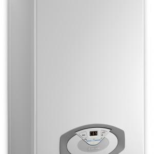Clas B Premium 24 - Kondensacyjny, wiszący, z wbudowanymi dwoma zasobnikami o poj. 40 l ze stali Inox. Przygotowany do podłączenia systemu solarnego. Powiększona pompa o modulowanej prędkości. Możliwość podłączenia recyrkulacji. Moc: od 5,5 do 22,0 kW (c.o.), wymiary: 90x60x46 cm. Cena: ok. 12.071,02 zł, Ariston.