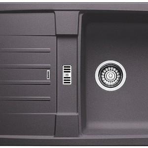 Prosty zlewozmywak Blancolexa 40 S, o maksymalnej objętości komory, odwracalny, do szafek o szer. 40 cm.   Ociekacz z doskonale uformowanym, dodatkowym odpływem. Wykonany z Silgranit® PuraDur® II w 10 kolorach.   1.349 zł (z korkiem automatycznym), Blanco/Comitor.