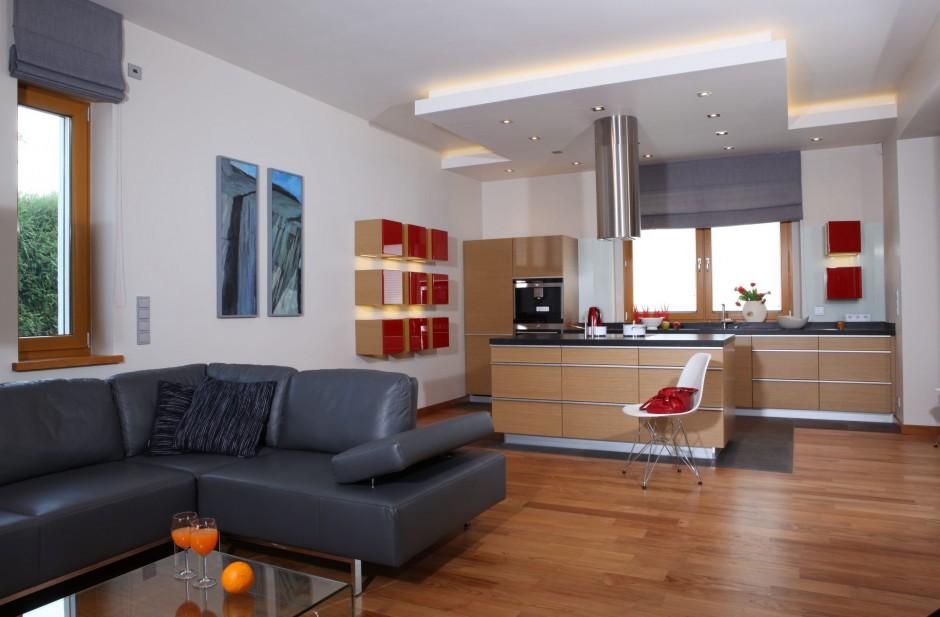 Kuchnia otwarta na salon  nasi projektanci doradzają -> Otwarta Kuchnia Jadalnia Salon