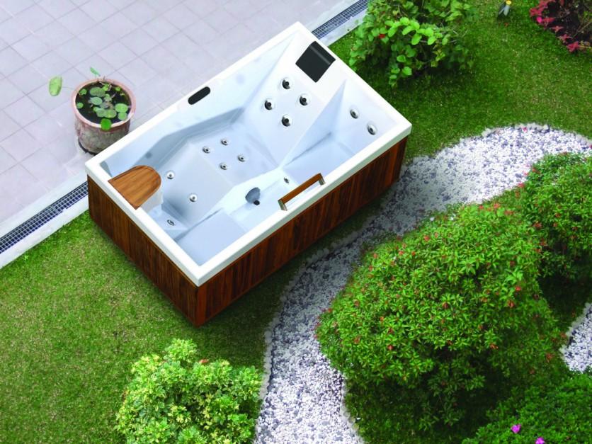 Meble Ogrodowe Okragłe : HOESCH Whirlpool PERA  SPA w ogrodzie dla wielbicieli relaksu