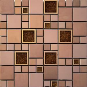 Ceramstic, Mozaika ceramiczno-metalowa Jazz Copper MCM-21, 29,8x29,8x0,8 cm.