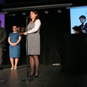 W podkategorii Kolekcje Mebli (kategoria Przestrzeń Łazienki) triumfowała seria mebli łazienkowych Palomba (Roca Polska, marka Laufen). Nagrodę odebrała Klaudia Bączek, przedstawiciel firmy Roca Polska.