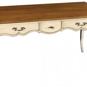 Zdobione biurko to podstawowy element retro gabinetu. Fot. Grange.