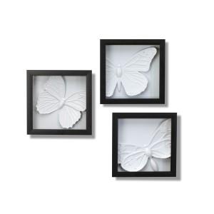 Pomysł na kobiecą dekorację gabinetu Joel Yatscoff zaczerpnął od entomologów, zdobiących ściany preparatami z owadów. Fot. Fabryka Form.