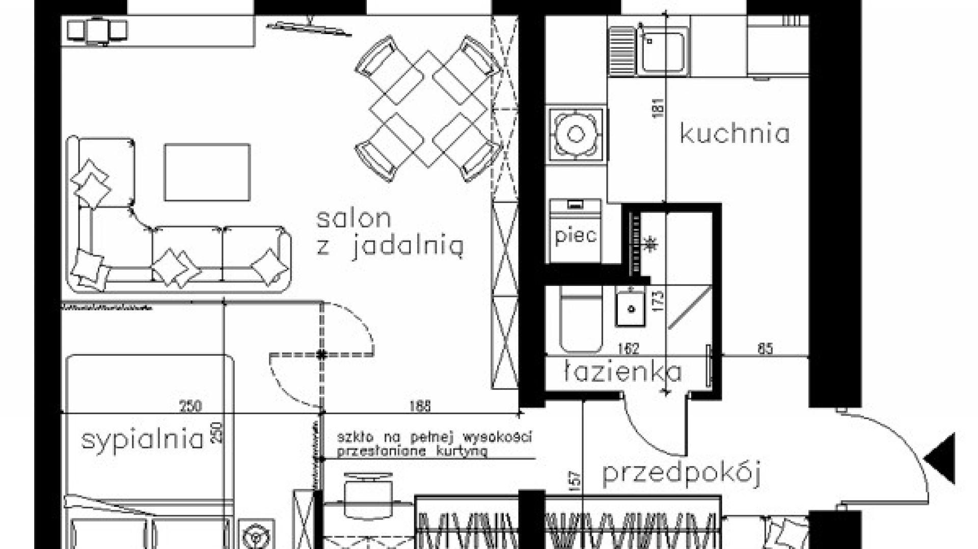 Proponowany projekt mieszkania.