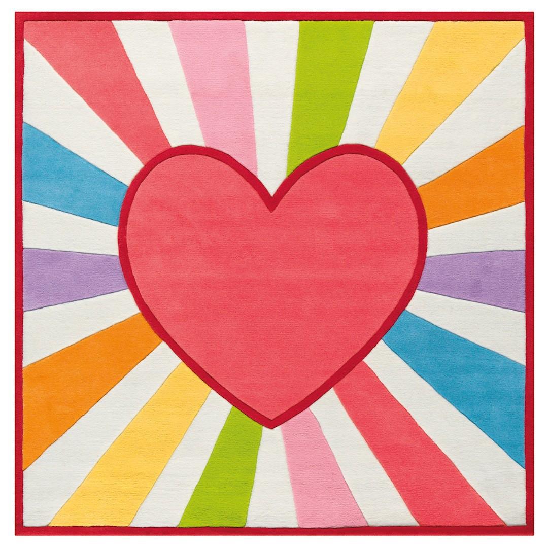 Dywan Rainbow Heart. Fot. Kids Town.