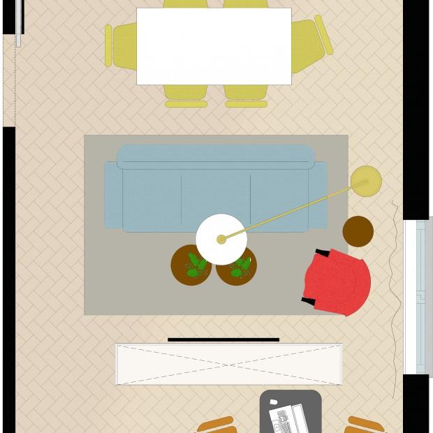 Pokój dzienny z miejscem do pracy - jak go zaprojektować?