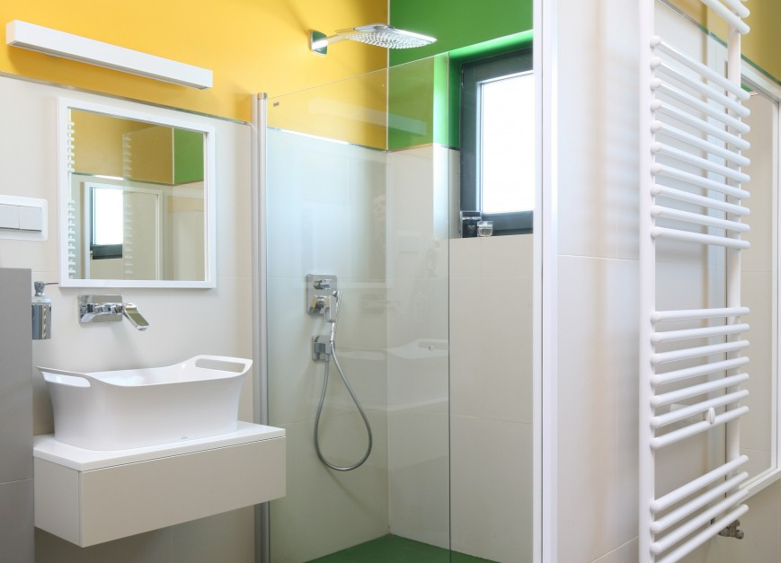 pomys na kolorow azienk pomaluj ciany. Black Bedroom Furniture Sets. Home Design Ideas