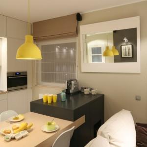 Charakter pomieszczenia podkreślają stonowane barwy ścian i podłóg. Fot. Bartosz Jarosz.