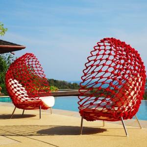 Fotele ogrodowe w soczystych barwach