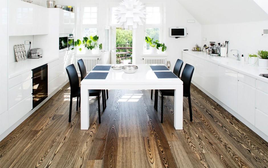Drewno na podłogę do kuchni?