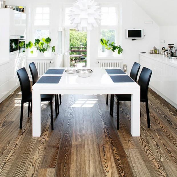 Drewniana podłoga w kuchni. 10 najciekawszych propozycji
